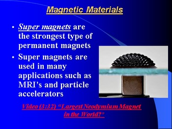 "Introduction to Physics Lesson IV PowerPoint ""Magnets & Magnetic Fields"""