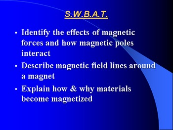 """Introduction to Physics Lesson IV PowerPoint """"Magnets & Magnetic Fields"""""""