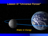 "Introduction to Physics Lesson IV PowerPoint ""Universal Forces"""