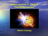 "Introduction to Physics Lesson V PowerPoint ""Heat & Thermo"
