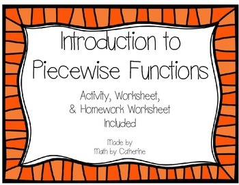 Introduction to Piecewise Functions