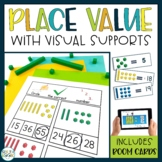 Place Value Adapted for Autism: Worksheets and Boom Cards
