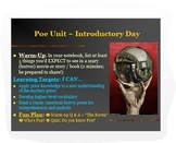 """Introduction to Poe PPT: Biography + """"The Raven"""" & Parody - ELA Common Core"""