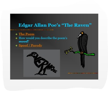 "Introduction to Poe PPT: Biography + ""The Raven"" & Parody - ELA Common Core"