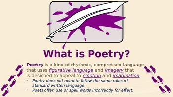 Introduction to Poetic Devices and Descriptive Language