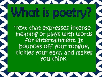 Introduction to Poetry Unit Powerpoint Mini Lesson- Aligned with TEKS