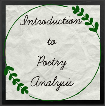 Introduction to Poetry Analysis Unit