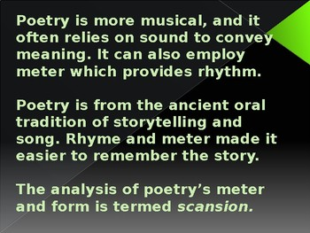 Introduction to Poetry Analysis - student notes and guided practice