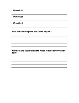 Introduction to Poetry Lesson. Guided Notes