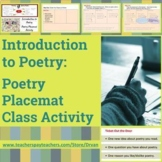 Introduction to Poetry - Placemat Activity