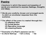 Introduction to Poetry - Poetic Devices