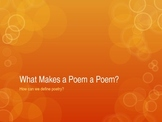 Introduction to Poetry Powerpoint with Activities