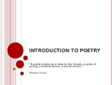 Poetry Resources: Introduction to Poetry Slideshow