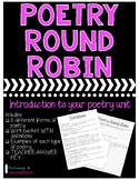 Introduction to Poetry Unit Activity: Poetry Round Robin