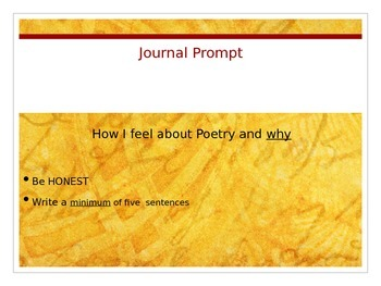 Introduction to Poetry: What is Poetry? (Introduction and Journal Prompt)