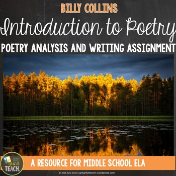 Introduction to Poetry by Billy Collins Poetry Analysis and Writing