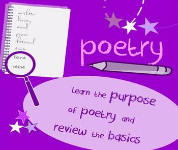 Introduction to poetry lesson: define poetry by analyzing