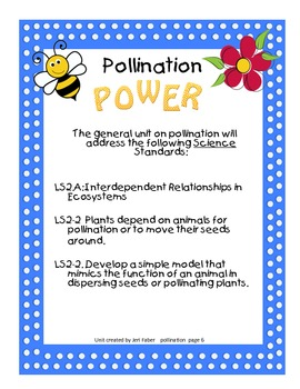 Introduction to Pollination--connecting to the 2nd grade NGSS (aligns to 2-LS2)