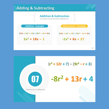 Introduction to Polynomials (Adding Polynomials)