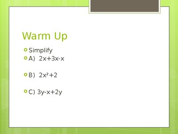 Introduction to Polynomials Powerpoint