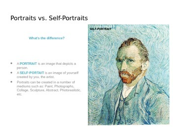 Introduction to Portraits & Self-Portraits