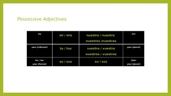 Introduction to Possessive Adjectives