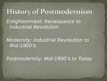 Introduction to Postmodernism PowerPoint