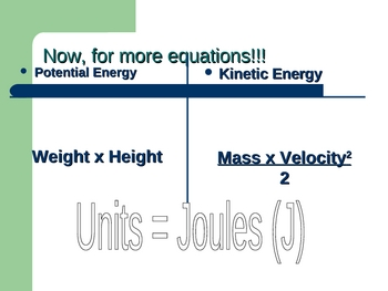 Introduction to Potential & Kinetic Energy PowerPoint (KE PE)