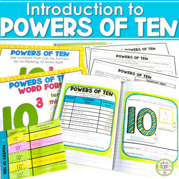 Introduction to Powers of Ten - Interactive Notebook Activities + Fill in Charts