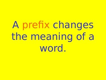 Introduction to Prefixes Powerpoint