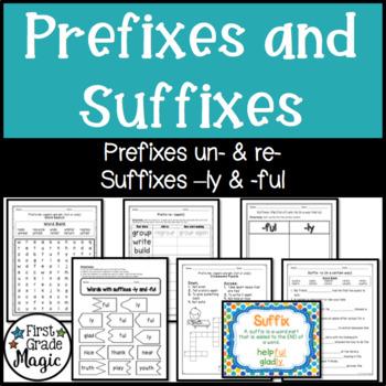 Prefix Suffix Puzzle Teaching Resources | Teachers Pay Teachers