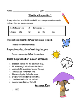 Introduction to Prepositions
