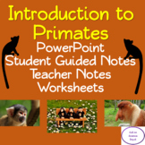 Introduction to Primates: PowerPoint, Student Guided Notes, Worksheet