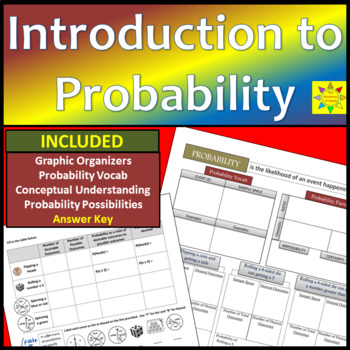 Independent Probability with Vocab and Graphic Organizers