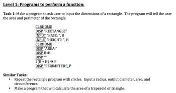 Introduction to Programming on the TI Graphing Calculator