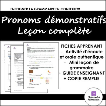 Introduction to Pronoms Démonstratifs- FULL Lesson