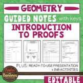 Introduction to Geometric Proofs -  Interactive Note-Taking Materials