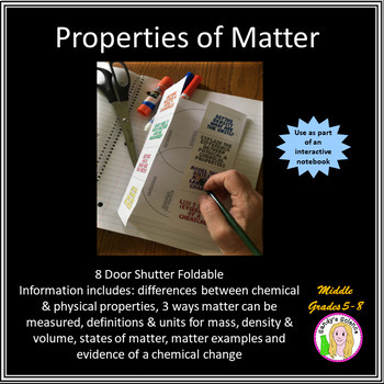 Introduction To Properties Of Matter Foldable