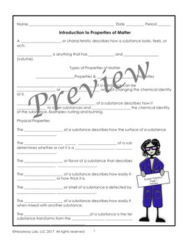 Introduction to Properties of Matter PowerPoint