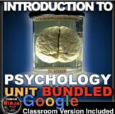 Introduction to Psychology Unit PPTs, Worksheets, Plans, Test+ Distance Learning