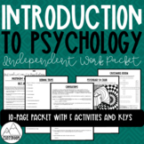 Introduction to Psychology Independent Work Packet