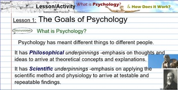 Introduction to Psychology -Lesson 1: Goals of Psychology