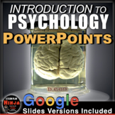 Introduction to Psychology PowerPoints w/presenter notes & embedded video links