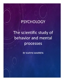 Introduction to Psychology: The Scientific Study of Behavior & Mental Processes