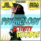 Introduction to Psychology Unit Activity Bundle