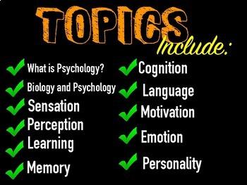 Introduction to Psychology Unit Activity Bundle