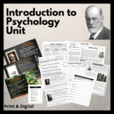 Intro to Psychology Unit: PPT, Test, Project & Readings -