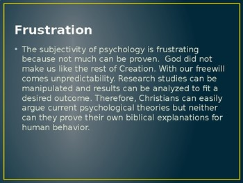 Introduction to Psychology (a Christian perspective)