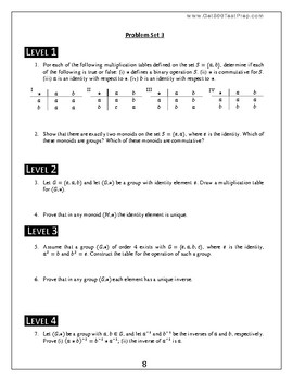 Introduction to Pure Mathematics - Lesson 3 - Abstract Algebra - Groups