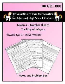 Introduction to Pure Mathematics - Lesson 4 - Number Theory - Ring of Integers